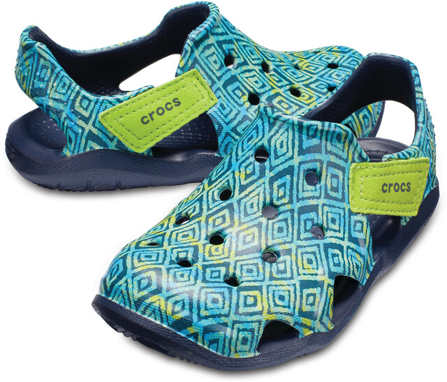 Klettergurt Mammut New Wave 2 : Crocs swiftwater wave graphic slippers kids navy campz